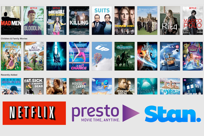 Netflix, Presto, Stan: why not get them all?